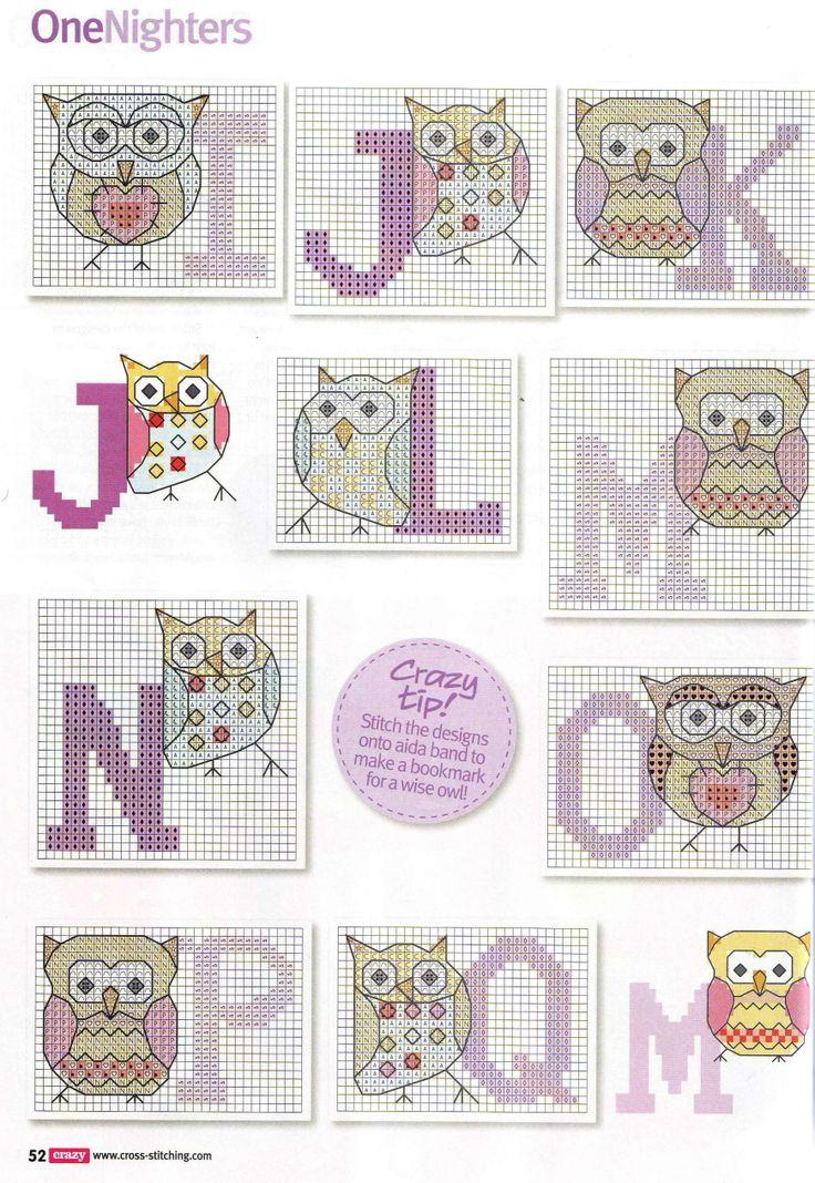 Owls Alphabet 2/3