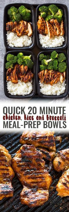 20 Minute Meal-Prep Chicken and Broccoli Food, easy recipes, quick recipes, easy dinner recipes, healthy dinner, healthy recipes, restaurant reviews, best new restaurants, food porn, cocktail recipes, summer cocktails, easy cocktails.