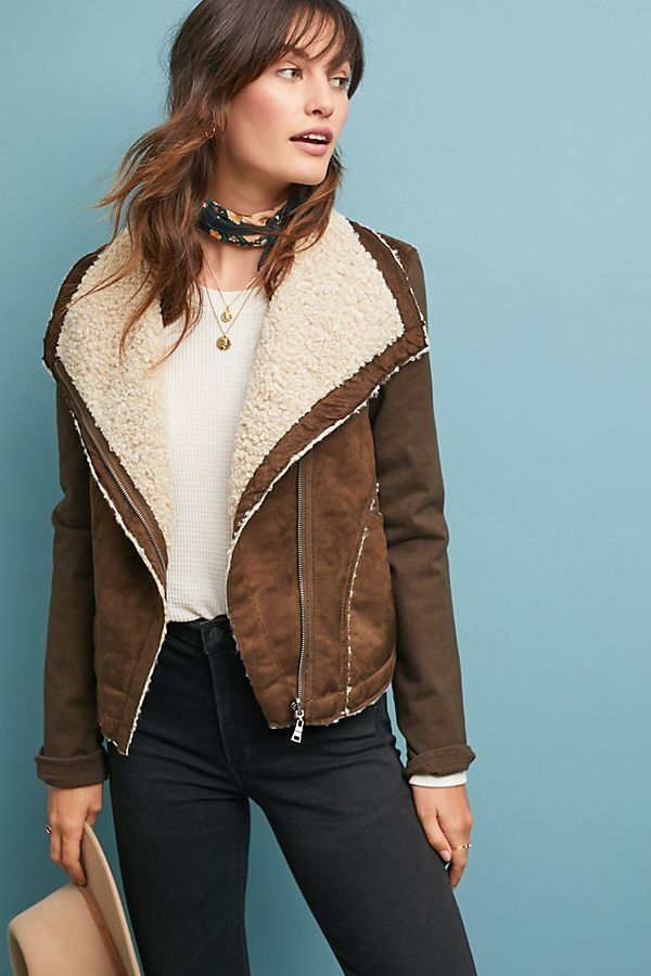 ed315f406e9 Sherpa Moto Jacket in 2019 | Coats & Jackets | Moto jacket, Fashion ...