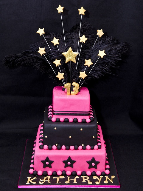 13th Birthday Cake Black Background By Not Just Cakes