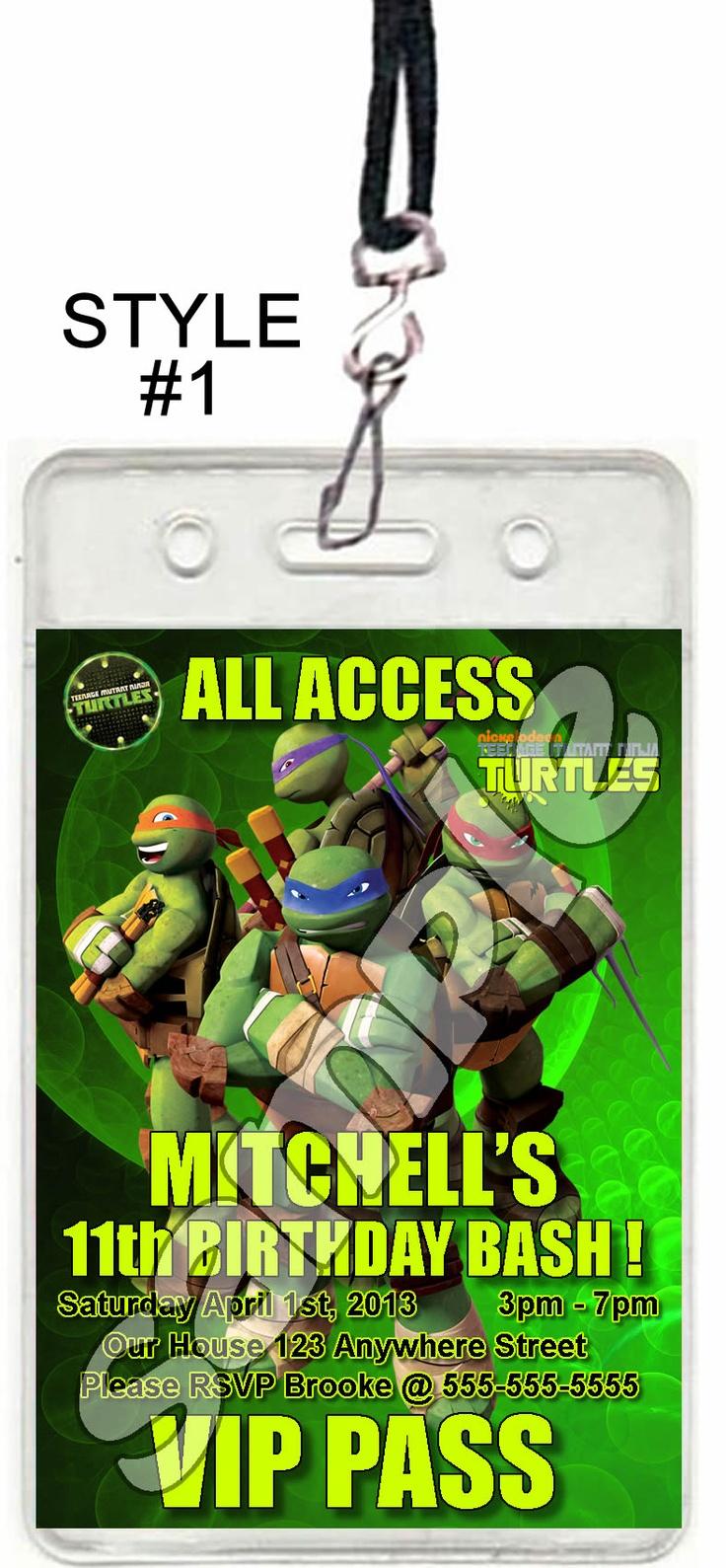 36 best TNNT Party images on Pinterest   Ninja turtle party, Ninja ...
