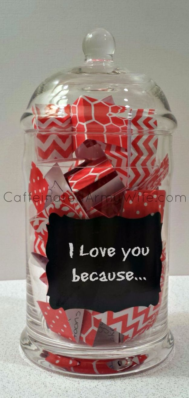 Best DIY Valentines Day Gifts - Love Notes Jar for Valentine's Day - Cute Mason Jar Valentines Day Gifts and Crafts for Him and Her | Boyfriend, Girlfriend, Mom and Dad, Husband or Wife, Friends - Easy DIY Ideas for Valentines Day for Homemade Gift Giving and Room Decor | Creative Home Decor and Craft Projects for Teens, Teenagers, Kids and Adults http://diyjoy.com/diy-valentines-day-gift-ideas