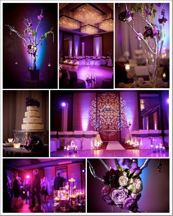 Purple Wedding I Like The Purple Back Lighting The