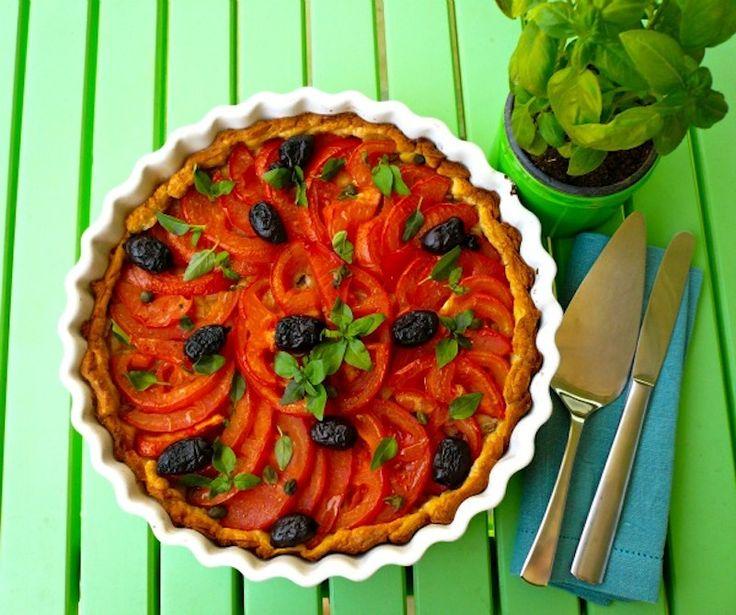 Tomato and basil tart!