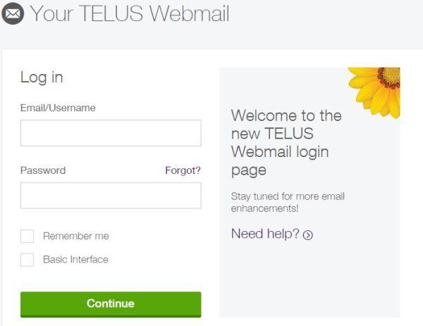 My Telus Webmail Login at myTELUS.Telus.com