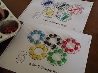 Toddler Approved!: Fun With Olympic Rings. What other activities could you do with olympic rings?