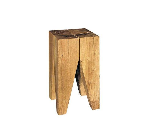 ST04 Backenzahn è uno sgabello / tavolino di Phillip Mainzer per E15, struttura realizzata interamente in legno massello di rovere. ST04 Backenzahn è considerato un classico del design edivenuto l'icona che identifica il brand E15 con le sue numerose presenze nelle sale museali. Le quattro gambe identiche a forma di cono rovesciato formano due incisioni intenzionali sulla superfice del piano formando una seduta leggermente concava e offrendo il giusto comfort. Grazie alla sua forte ...