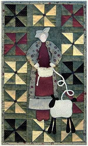 """""""Knittin' Pearl"""" wall quilt pattern by Terry Morberg"""