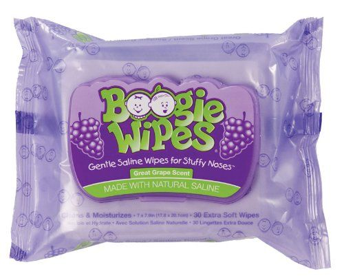 Boogie Wipes Saline Nose Wipes, Great Grape, 30-Count (Pack of 6) List Price: $23.94 Discount: $2.95 Sale Price: $20.99