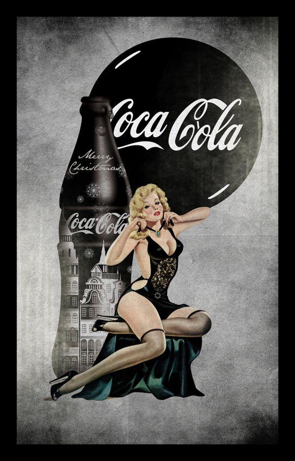 vintage Coca Cola posters by Zoki Cardula, via Behance