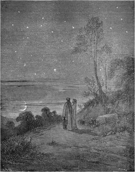 Image result for dante looking at stars
