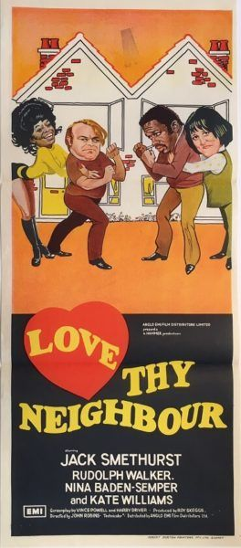Love Thy Neighbour original 1973 Australian/NZ Daybill Hammer Productions movie poster. Available for purchase from our website.