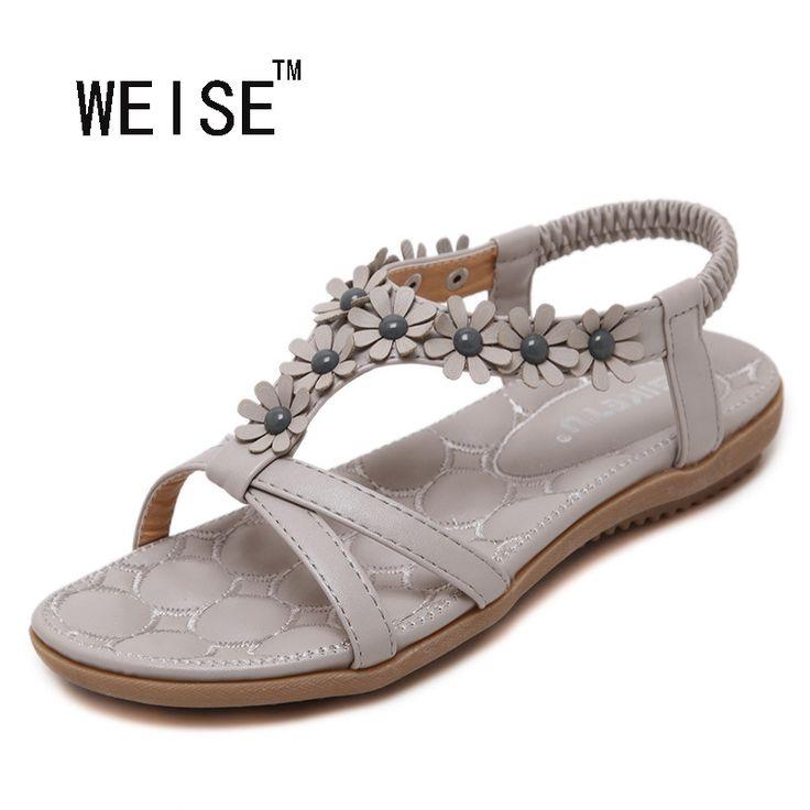 $17.00 (Buy here: https://alitems.com/g/1e8d114494ebda23ff8b16525dc3e8/?i=5&ulp=https%3A%2F%2Fwww.aliexpress.com%2Fitem%2FWEISE-Free-Shipping-2016-New-Sweet-Flowers-Sandals-Bohemian-Sandals-Large-Size-Shoe-Women-Sandals-Summer%2F32690058487.html ) WEISE Free Shipping 2016 New Sweet Flowers Sandals Bohemian Sandals Large Size Shoe Women Sandals Summer Sandals for just $17.00