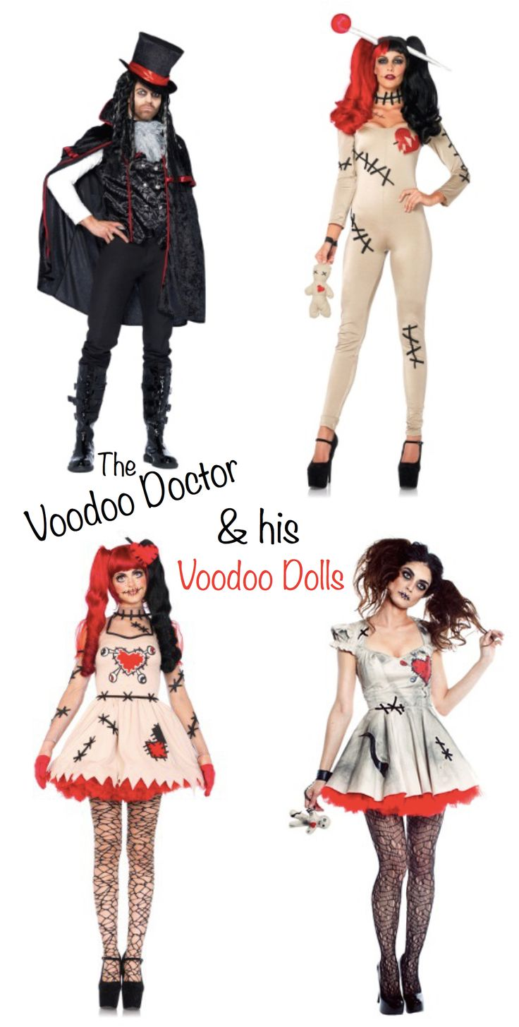 Carnivale & Mardi Gras Costumes   Halloween Costume Ideas >> The Voodoo Doctor and His Voodoo Dolls Group Costume