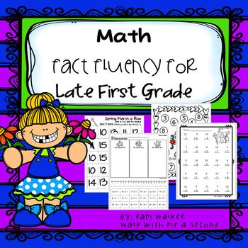 These fact fluency tasks and worksheets are geared to help develop math fact knowledge for first graders in the last 3-4 months of the school year. There are two strategies emphasized and other revisited. They will work for older struggling students, Autism students, or those with developmental disabilities.