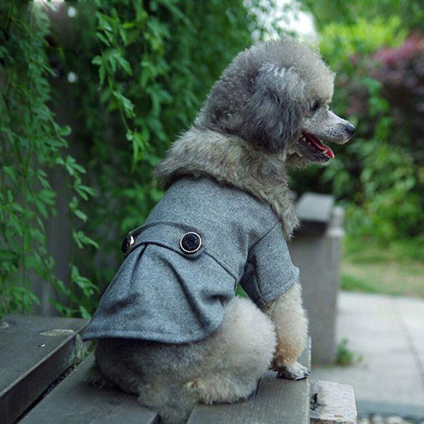 Nieuwste Puppy Kat Huisdier Jas Hond Wollen Jas Kleding Winter Warm Uitloper Kostuum  3xl