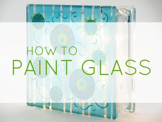 how to make acrylic paint stay on glass