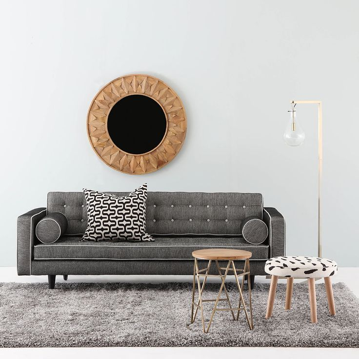 Australian made JAZZ sofa dressed with SCOUT Ottoman #interiorstyling #Australianmade #livingroom #creativespace