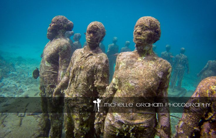 The Circle Of Children, in the Grenada Underwater Sculpture Park, by Jason deCaires Taylor.  #underwater #underwatersculpturepark #circleofchildren #molinere #grenada #diving #scuba #lovescuba #lovegrenada #underwaterart #sculpture #art #gopro #hero4 #goprohero4