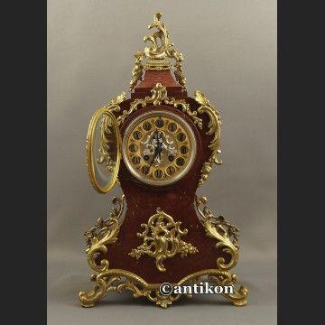 Zegar kominkowy w stylu Boulle Francja ok. 1860 r Marti obiekt muzealny