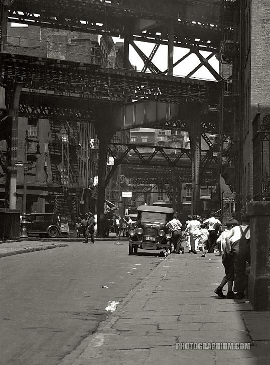 U.S. Street scene in New York City, ca1930