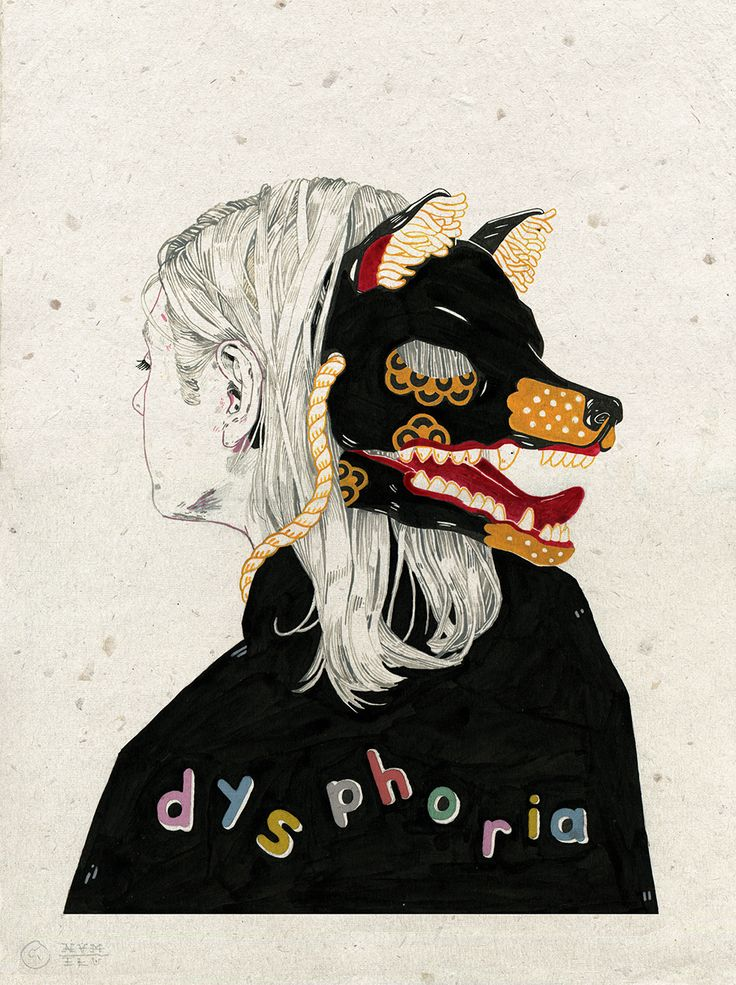 "nvm-illustration: "" 'dysphoria' Dysphoria is a profound state of unease or dissatisfaction. In a psychiatric context, dysphoria may accompany depression, anxiety, or agitation. It can also refer to a state of not being comfortable in one's current..."