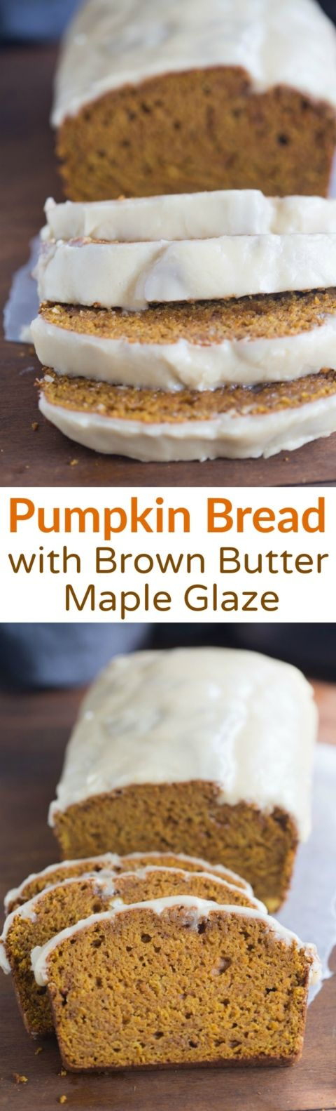 The BEST, incredibly moist pumpkin bread with a brown butter maple glaze that will have you swooning with every bite! | Tastes Better From Scratch
