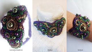 Mirela Mohjazi Handmade: Diadema sau bratara sau choker .... sau accesoriu ...