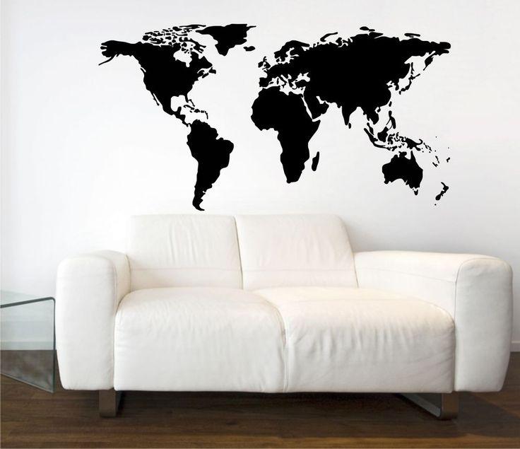 World Map Vinyl Wall Art Graphic - Stickers DecalsTransfers