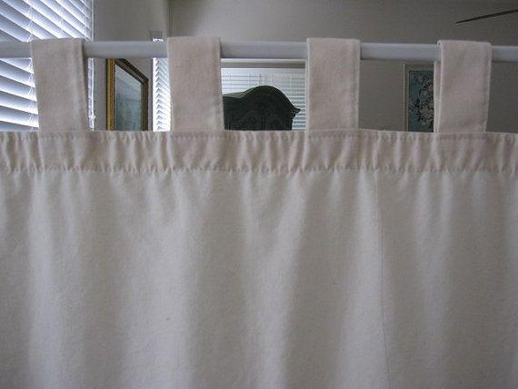 Tab Top Curtains White Cotton Curtain Menzilperde Net