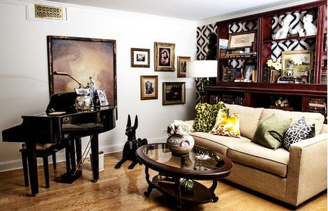 Эклектичный дизайн гостиной
