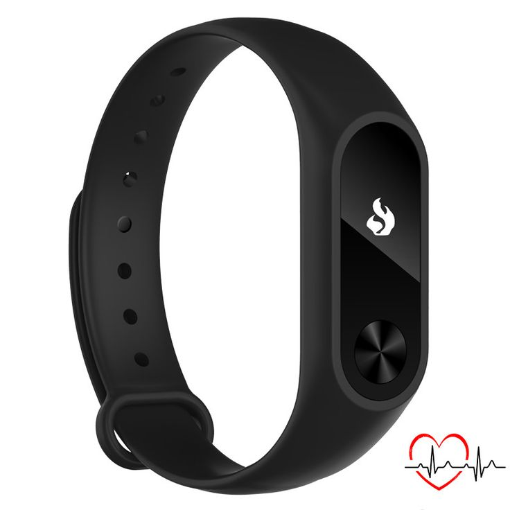 CURREN Sleep Tracker Heart Rate Monitor Wrist band Smart bracelet for Smartphone with Bluetooth 4.0 black