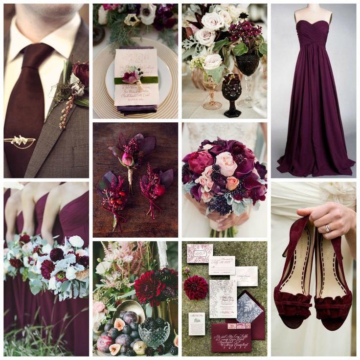 Plum, Marsala, & Sage Green Wedding Inspiration
