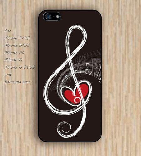 iPhone 5s 6 case music case heart case phone case iphone case,ipod case,samsung galaxy case available plastic rubber case waterproof B530