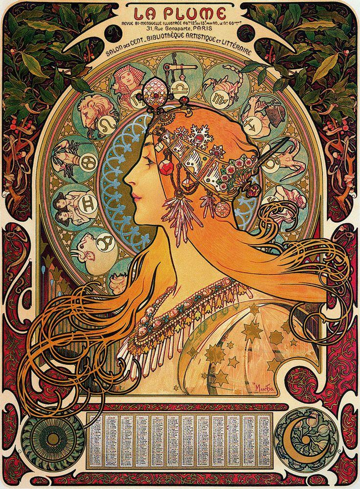 Zodiaque - Alphonse Mucha