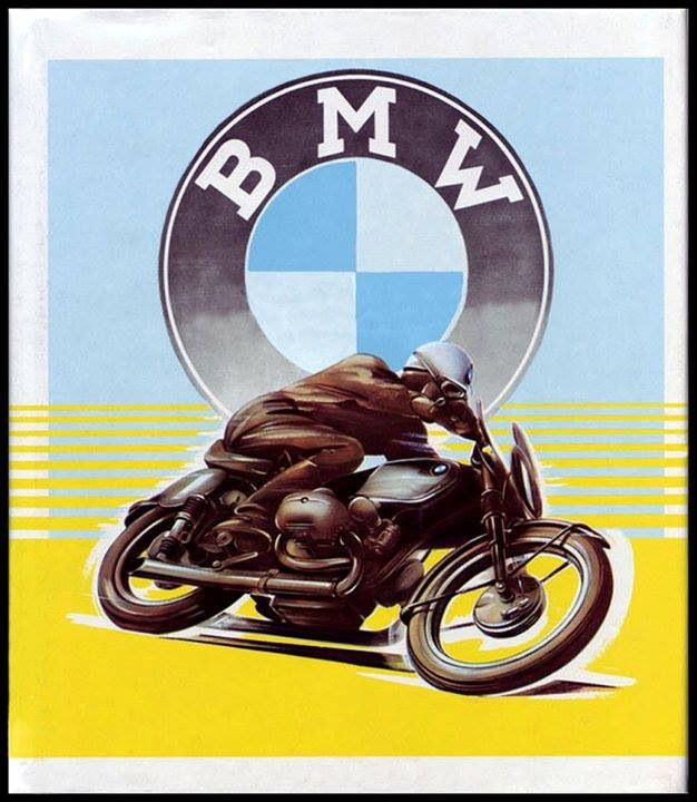 Vintage BMW motorcycle advertising                                                                                                                                                                                 More