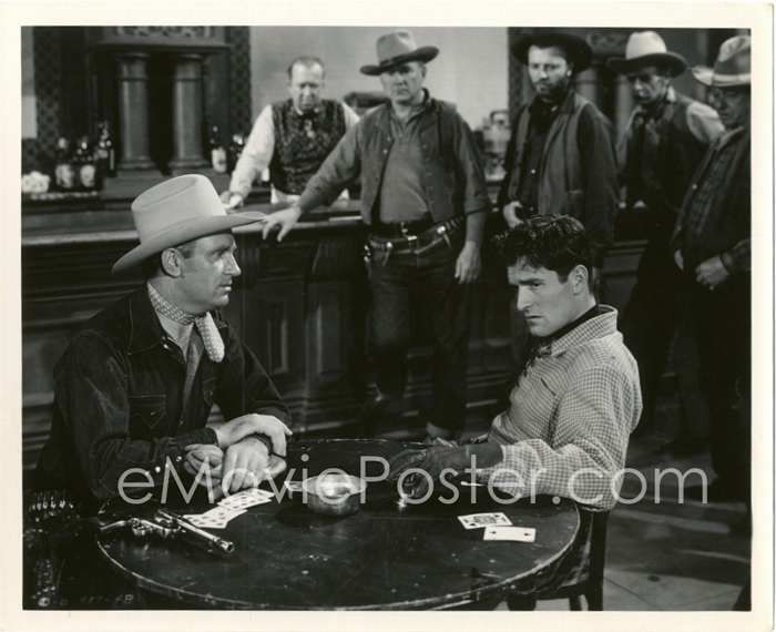 Gene Autry and Hugh O'Brian as Jack Beaumont in ''Beyond the Purple Hills'' 1950