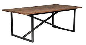ALEX, Esstisch Holz-Metall Industriedesign, Esstisch Altholz Metallbeine, Tisch…
