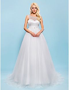 Ball Gown Scoop Court Train Tulle Wedding Dress Get awesome discounts up to 70% Off at Light in the Box with coupon and Promo Codes.