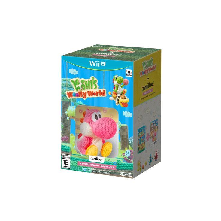 Yoshi's Woolly World + Pink Yarn Yoshi amiibo Nintendo Wii U