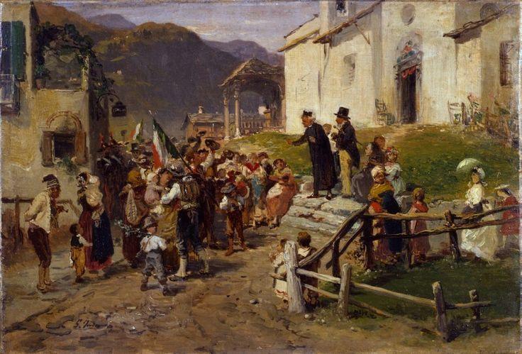 La partenza dei volontari - GEROLAMO INDUNO