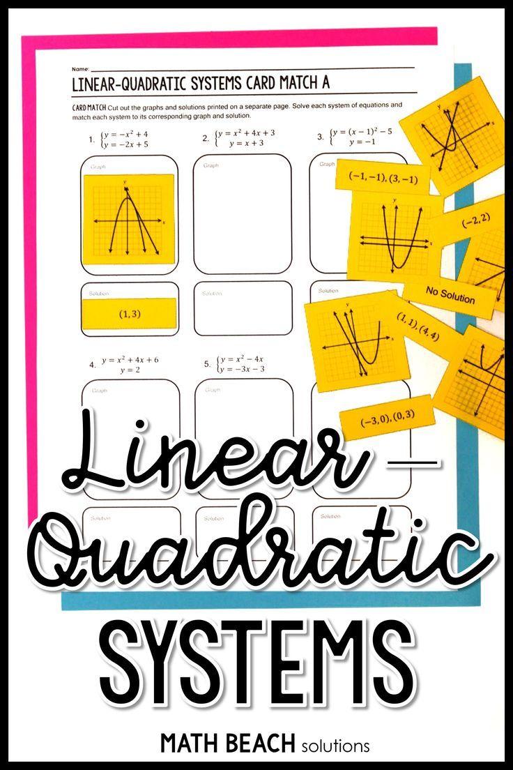Solving Linear Quadratic Systems Activity For Google Slides Quadratics Algebra Activities Solving Quadratic Equations [ 1104 x 736 Pixel ]
