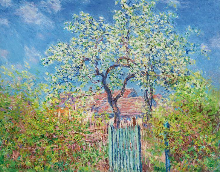 ❀ Blooming Brushwork ❀ - garden and still life flower paintings - Claude Monet~ Poirier En Fleurs