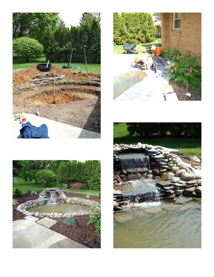 17 best images about ponds water features on pinterest for Building a backyard pond