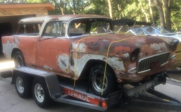 Lt1 Chassis Included 1955 Chevrolet Nomad Project With Images