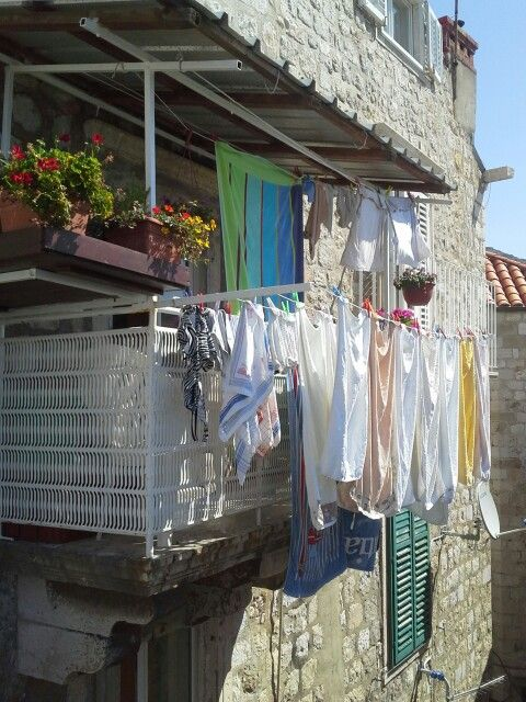 Laundry day in Dubrovnik , Croatia by Pat Johnson