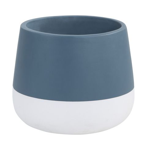 Dipped Drum Pot - Blue & White | Kmart