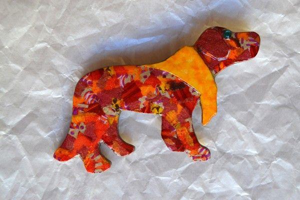 Broche perrito | Diseño exclusivo Art & Patch Barcelona