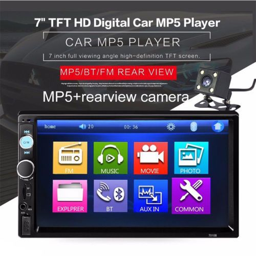 "US-Deals Audio Car Stereo Radio Bluetooth Audio Receiver Double Din 7"" Touch Screen USB AUX TF: $50.00 End Date: Saturday…%#USDeals%"