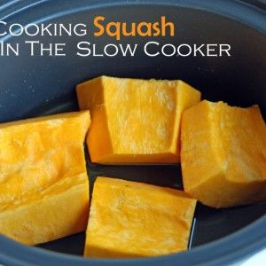 Cooking Squash in the Slow Cooker - no need to peel it!